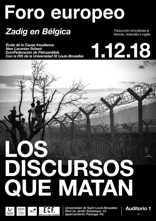 Discursos que matan – Forum europeo organizado por Zadig enBélgica