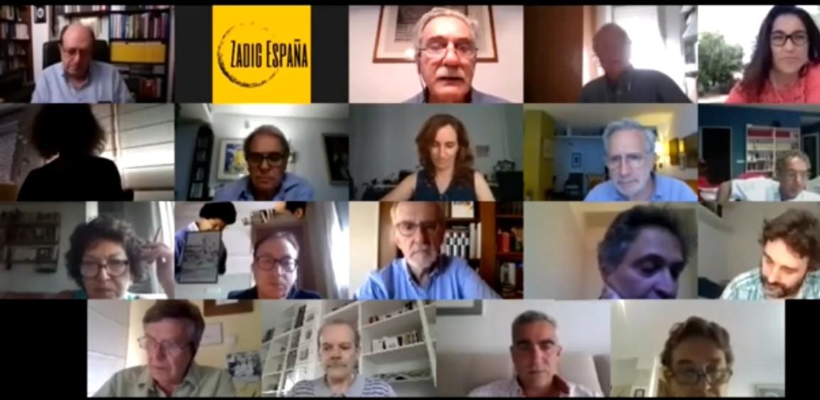 """Vídeo del debate organizado por Zadig España el 26/6/20 titulado: """"Lo por-venir en tiempos de coronavirus: ¿nueva normalidad?"""""""